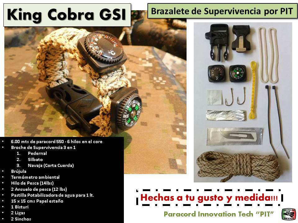 Brazalete King Cobra GSI de Supervivencia 2019
