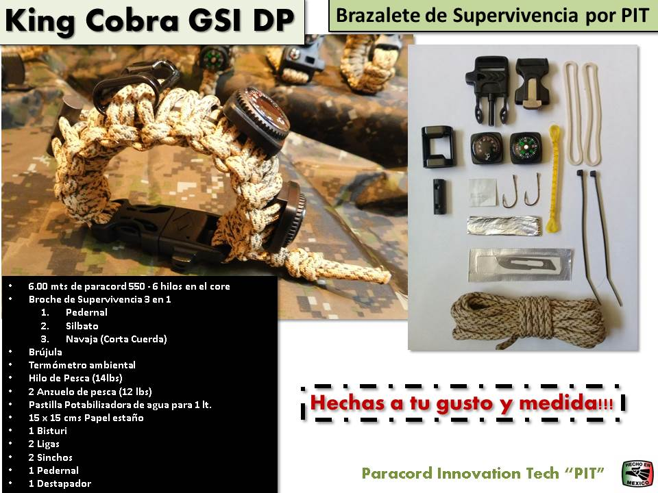 "Brazalete King Cobra GSI de Supervivencia 2020 ""Full"""