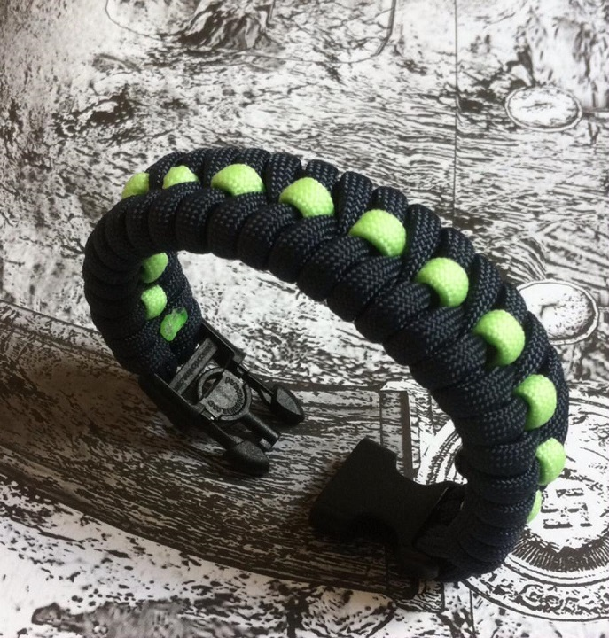 Fishtail Stiched Paracord Glow